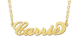 Carrie Name Necklace Carrie Name Necklace In 14ct Gold Or 925 Sterling Silver