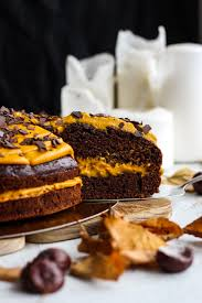 chocolate cake with pumpkin frosting veggie jam english