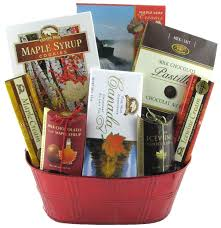 canadian gift baskets canadian sensation glitter gift baskets