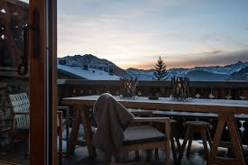 chalet hiver in verbier switzerland white blancmange
