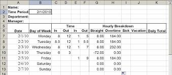 build a simple timesheet in excel techrepublic
