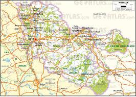 moselle moselle carte de la moselle moselle carte du département 57 villes