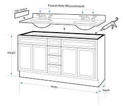 intricate bathroom cabinet height bathroom vanity measurements