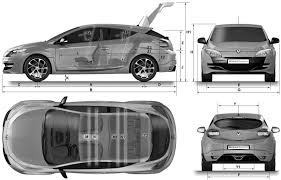 renault megane sport 2007 renault blueprints download free blueprint for 3d modeling