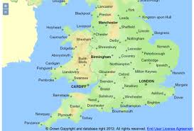 Wales England Map by Map Of Great Britain Showing Towns And Cities Google Search