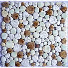 tst porcelain pebbles fambe mosaic brown mosaic pebble tile