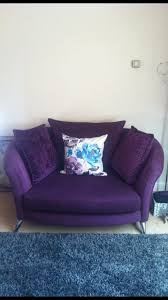 Purple Armchair Purple Dfs 4 Seater Sofa U0026 Cuddle Chair In Henfield West Sussex