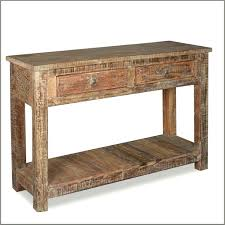 wood and metal console table with drawers distressed console table with drawers furniture brown wooden console