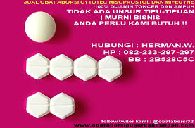 Obat Gugur Cytotec mifegyne dan cytotec adalah obat aborsi resmi yang disetujui oleh