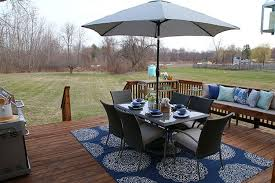 Medallion Outdoor Rug Refined Rustic Style Deck Decor