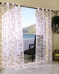 Outdoor Curtains With Grommets Alcott Hill Edgerton Leaf Nature Floral Sheer Outdoor Grommet