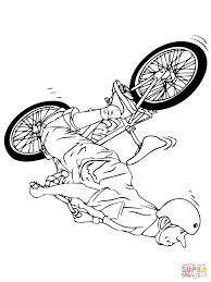 riding bmx bike coloring page free printable coloring pages
