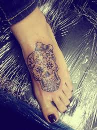 sugar skull black line with bow this future ideas