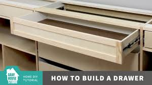 Build A Desk With Drawers How To Build A Drawer Youtube