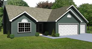 fresh inspiration 5 3 car garage house plans ranch plan 1436 homeca