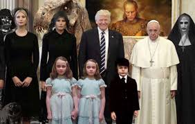 halloween horror nights meme readers sent us dozens of variations on the trump pope horror meme