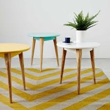 Tripod Side Table Add A Pop Of Scandinavian Colour To Your Home With The Home