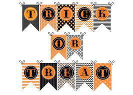 halloween banner trick or treat party banner printable instant