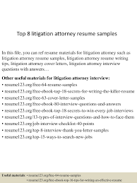 Paralegal Resume Example Litigation Attorney Resume Resume For Your Job Application