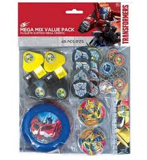 transformer party supplies transformers 48 mega mix value party favor pack