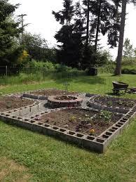 my amazing cinder block square foot garden planting garden grows