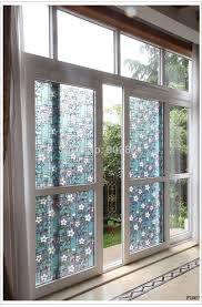 45 100cm stained flower opaque frosted window films vinyl static