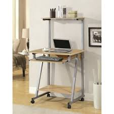 home computer desk desk with wheels casters you ll love wayfair