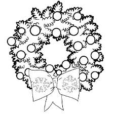 wreath coloring pages happy holidays