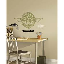 roommates multi color star wars typographic yoda peel and multi color star wars typographic yoda peel and stick giant wall decals