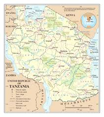 Tanzania Map Large Detailed Political And Administrative Map Of Tanzania With