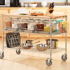kitchen carts islands rolling kitchen carts islands and storage racks storables