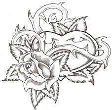 hearts roses coloring pages az coloring pages clip art library