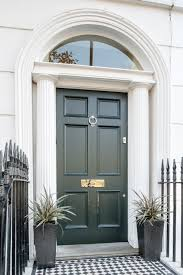 a lovely georgian six panel front door in studio green north