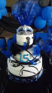 themed quinceanera blue themed quinceanera cake ideas 117347 masquerade theme