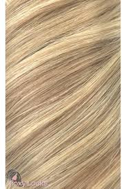 Human Hair Extensions With Clips by Latte Blonde Seamless Deluxe 20