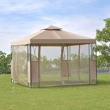 Patio Tent Gazebo Costway 2 Tier 10 X10 Gazebo Canopy Tent Shelter Awning Steel