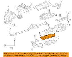 2003 honda accord catalytic converter honda oem 2007 accord 2 4l l4 catalytic converter 18160radl11 ebay
