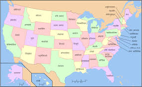 united states map with names of states and capitals us map names of states the united states map with state names