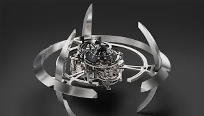 mechanical desk clock mb f s starfleet machine desk clock is out of this world robb report