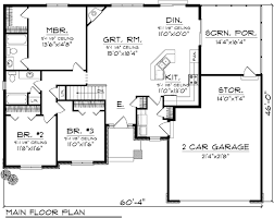 Ranch Home Plans House Floor Plan For 39512 Ranch House Plans 1520 Sq Ft