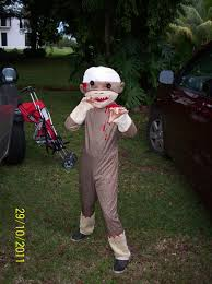 sock monkey costume the menace abroad attack of the sock monkey