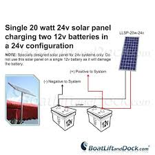 20 watt solar panel system for 24v powered boat lift hoist