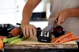amazon com prioritychef knife sharpener 2 stage sharpening