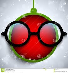 christmas glasses merry christmas with glasses stock vector illustration