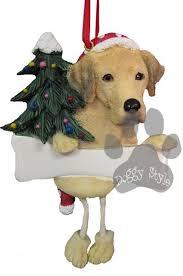 dangling leg yellow labrador christmas ornament yellow products