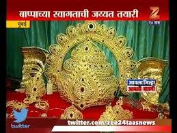 mumbai gold jewellery and ornaments for big ganesh idol