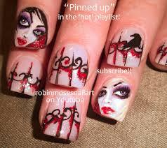 robin moses nail art halloween nail art