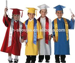 graduation gown graduation cap gown and tassel shiny finish and children
