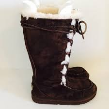 ugg boots on sale size 5 71 ugg shoes ugg brown lace up boots size 5 from