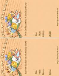 free kids birthday invitations free printable children u0027s birthday
